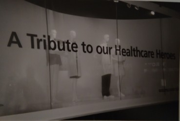 12. A tribute to healthcare workers window display