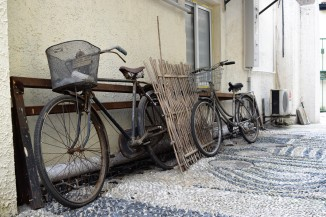 Old bicycles in a Changle Lu alley