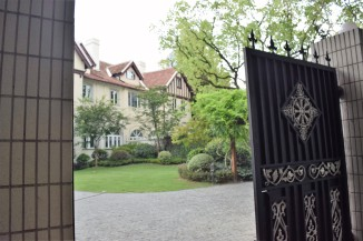 A glimpse behind the gates at a swank home