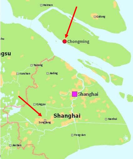 Shanghai municipality map