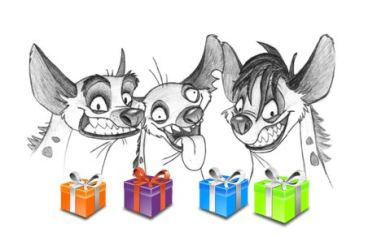 hyenas-and-presents