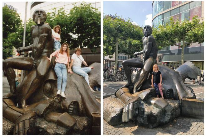 Then and Now Frankfurt