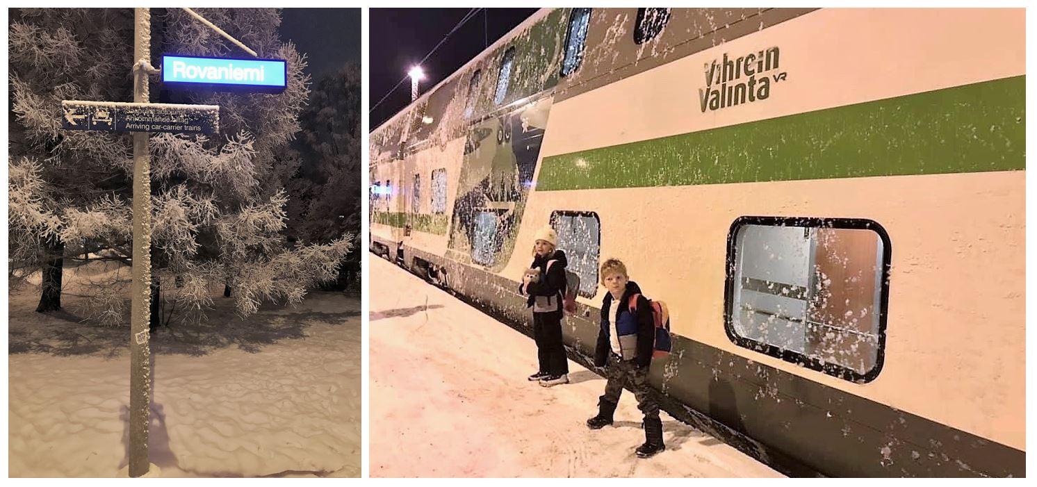 Arrival in Rovaniemi